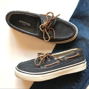 Sperry Wool Charcoal Grey Top-Sider Boat Shoes